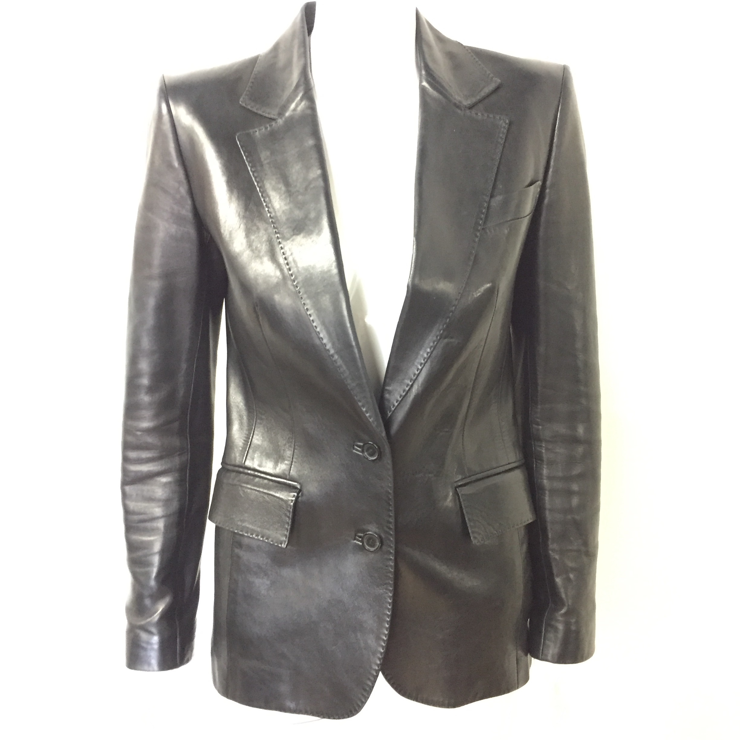8bbb8a00af47 Gucci leather jacket 40 - Closet Couture